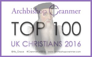 Archbishop Cranmer Top 100 UK Christians